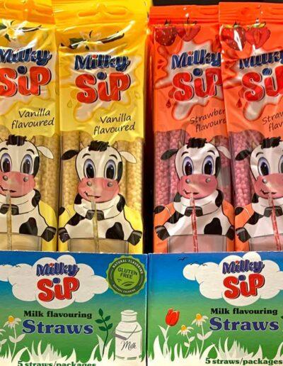 Milky Sip szívószál csomagolástervezés